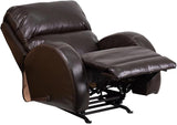 Flash Furniture WA-4990-620-GG Contemporary Ty Brown Leather Rocker Recliner - Peazz Furniture - 5
