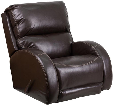 Flash Furniture WA-4990-620-GG Contemporary Ty Brown Leather Rocker Recliner - Peazz Furniture - 1