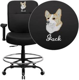 Embroidered Hercules Series Lb Capacity Big Tall Black 3985 Product Photo