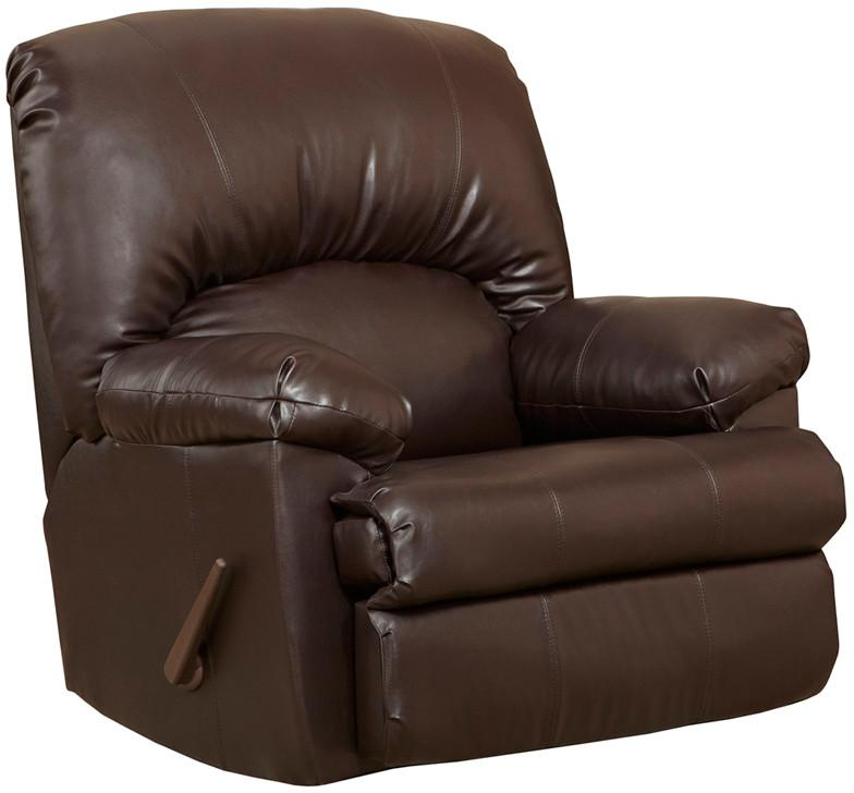 Flash Ty Chocolate Leather Rocker Recliner Contemporary