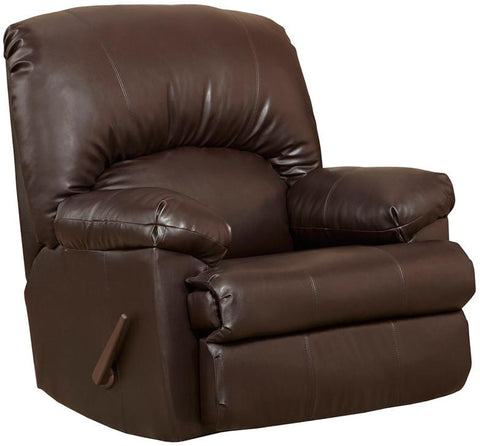 Flash Furniture WM-8500-620-GG Contemporary Ty Chocolate Leather Rocker Recliner - Peazz Furniture
