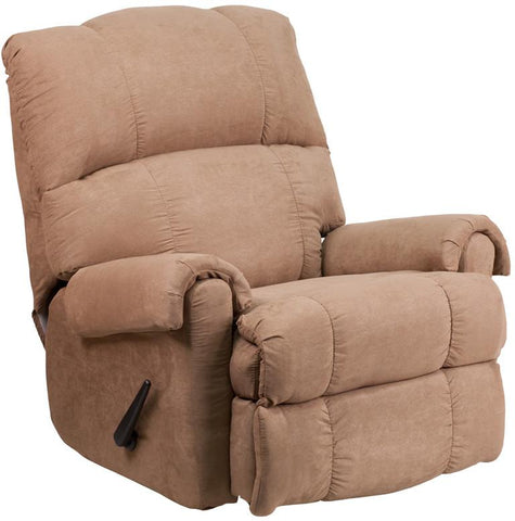 Flash Furniture WM-8700-394-GG Contemporary Victory Lane Taupe Fabric Rocker Recliner - Peazz Furniture
