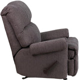 Flash Furniture WM-8700-543-GG Contemporary Couger Gray Chenille Rocker Recliner - Peazz Furniture - 2