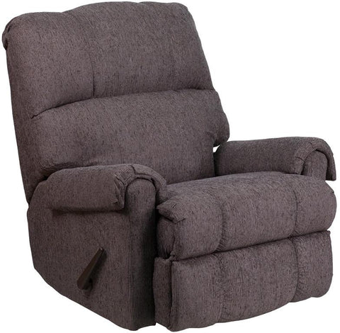 Flash Furniture WM-8700-543-GG Contemporary Couger Gray Chenille Rocker Recliner - Peazz Furniture - 1