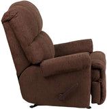 Flash Furniture WM-8700-544-GG Contemporary Couger Chocolate Chenille Rocker Recliner - Peazz Furniture - 2