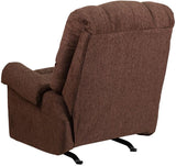 Flash Furniture WM-8700-544-GG Contemporary Couger Chocolate Chenille Rocker Recliner - Peazz Furniture - 3