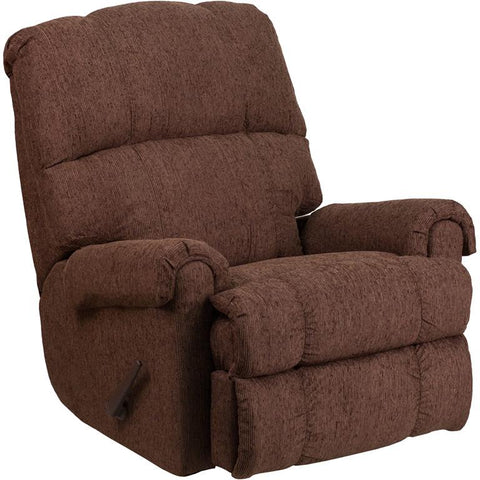 Flash Furniture WM-8700-544-GG Contemporary Couger Chocolate Chenille Rocker Recliner - Peazz Furniture - 1