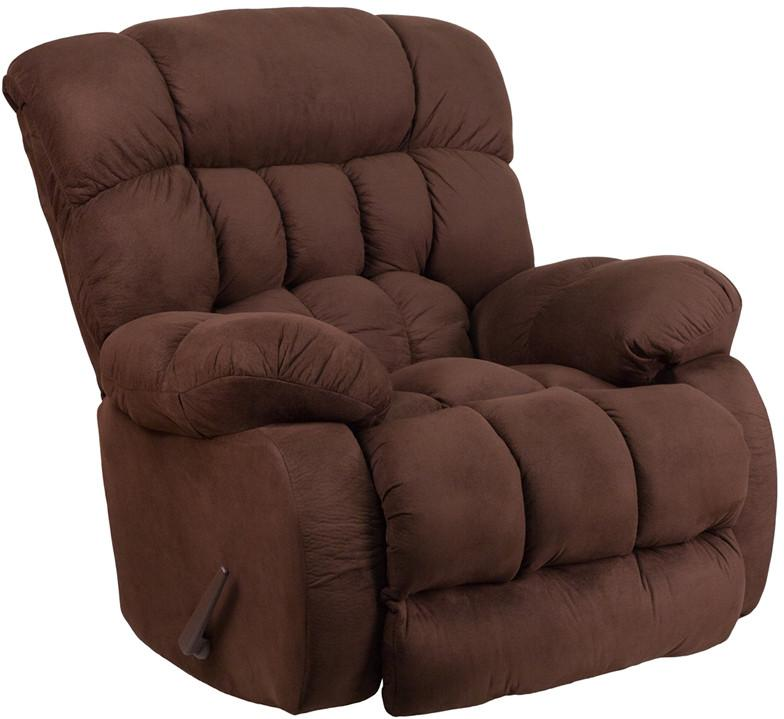 Softsuede Fudge Microfiber Rocker Recliner 18534 Product Photo