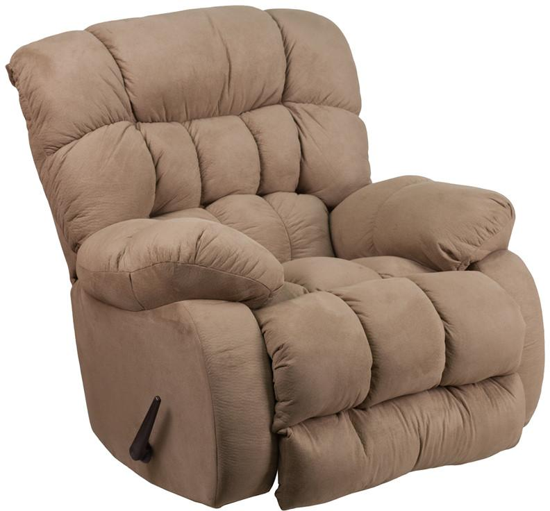 Softsuede Taupe Microfiber Rocker Recliner 18534 Product Photo