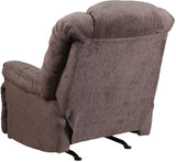 Flash Furniture WM-9745-435-GG Contemporary Hillel Pewter Chenille Rocker Recliner - Peazz Furniture - 3