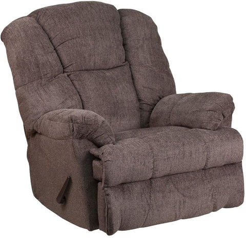 Flash Furniture WM-9745-435-GG Contemporary Hillel Pewter Chenille Rocker Recliner - Peazz Furniture - 1