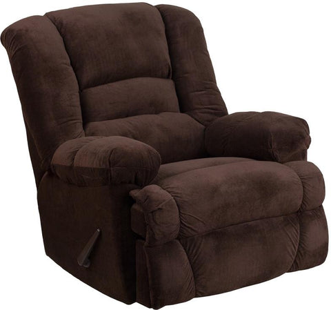Flash Furniture WM-9830-800-GG Contemporary Dynasty Chocolate Microfiber Rocker Recliner - Peazz Furniture - 1