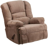Flash Furniture WM-9830-801-GG Contemporary Dynasty Camel Microfiber Rocker Recliner - Peazz Furniture - 1