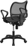 Flash Furniture WR22-A-GG Mid-Back Black Mesh Swivel Task Chair with Loop Arms - Peazz Furniture - 3
