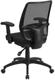 Flash Furniture WR72BLACK-GG Mid-Back Black Mesh Executive Swivel Office Chair with Back Angle Adjustment - Peazz Furniture - 3