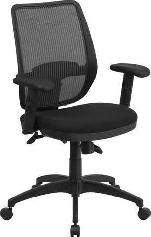 Flash Furniture WR72GREY-GG Mid-Back Gray Mesh Executive Swivel Office Chair with Back Angle Adjustment - Peazz Furniture - 1