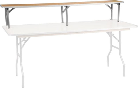 Flash Furniture XA-72-RS-GG 72'' x 12'' x 12'' Birchwood Bar Top Riser with Silver Legs - Peazz Furniture - 1