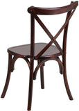 Flash Furniture XS-1-F-GG HERCULES Series Fruitwood Cross Back Chair - Peazz Furniture - 3
