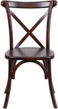 Flash Furniture XS-1-F-GG HERCULES Series Fruitwood Cross Back Chair - Peazz Furniture - 4