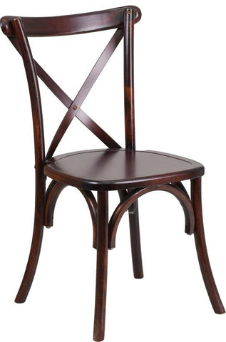 Flash Furniture XS-1-F-GG HERCULES Series Fruitwood Cross Back Chair - Peazz Furniture - 1