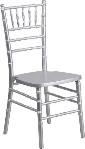 Flash Furniture XS-SILVER-GG HERCULES Series Silver Wood Chiavari Chair - Peazz Furniture - 1
