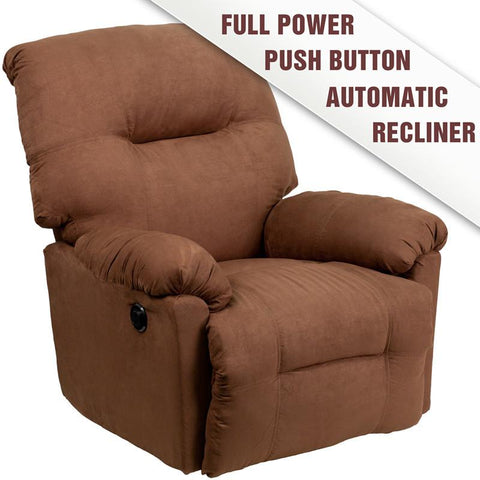 Flash Furniture AM-CP9350-2550-GG Contemporary Calcutta Chocolate Microfiber Power Chaise Recliner - Peazz Furniture