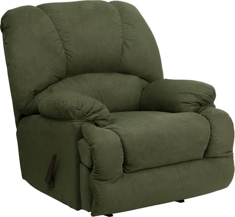 Flash Furniture AM-C9700-7903-GG Contemporary Glacier Olive Microfiber Chaise Rocker Recliner - Peazz Furniture