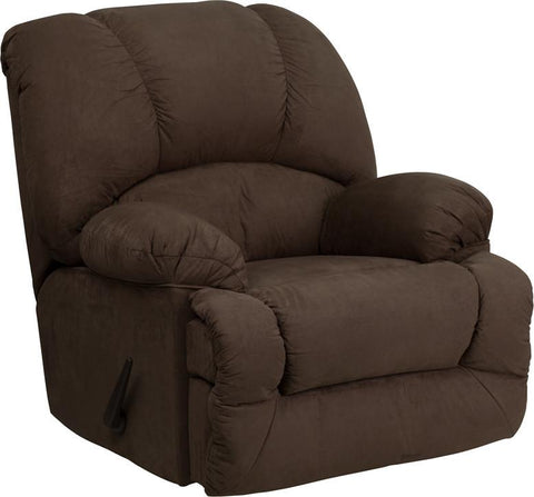 Flash Furniture AM-C9700-7901-GG Contemporary Glacier Brown Microfiber Chaise Rocker Recliner - Peazz Furniture