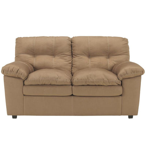 Flash Furniture FSD-7199LS-MOC-GG Signature Design by Ashley Mercer Loveseat in Mocha Fabric - Peazz Furniture