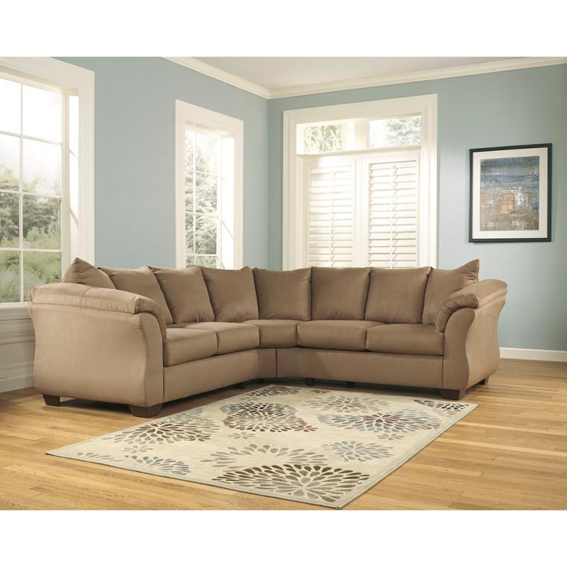 Design Ashley Darcy Sectional Mocha Fabric Signature 934 Product Photo
