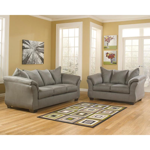Flash Furniture FSD-1109SET-COB-GG Signature Design by Ashley Darcy Living Room Set in Cobblestone Fabric - Peazz Furniture