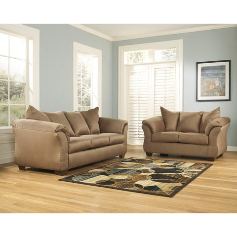 Flash Furniture FSD-1109SET-MOC-GG Signature Design by Ashley Darcy Living Room Set in Mocha Fabric - Peazz Furniture