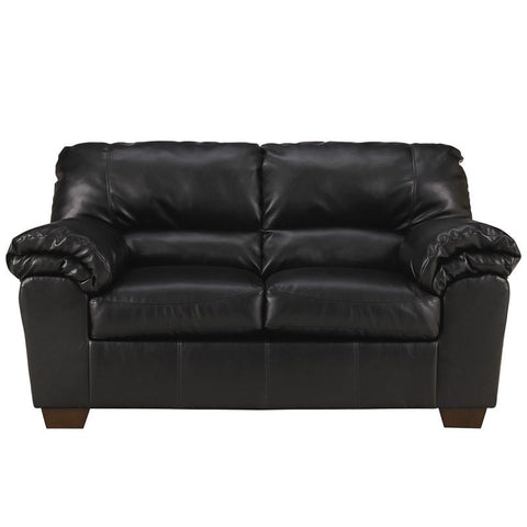 Flash Furniture FSD-2129LS-BLK-GG Signature Design by Ashley Commando Loveseat in Black Leather - Peazz Furniture