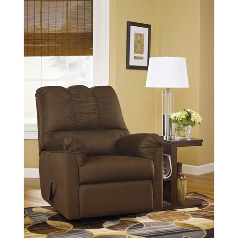 Flash Furniture FSD-1109REC-CAF-GG Signature Design by Ashley Darcy Rocker Recliner in Cafe Fabric - Peazz Furniture