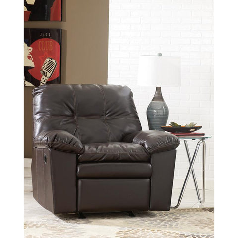 Flash Furniture FSD-2799REC-JAV-GG Signature Design by Ashley Jordon Rocker Recliner in Java DuraBlend - Peazz Furniture