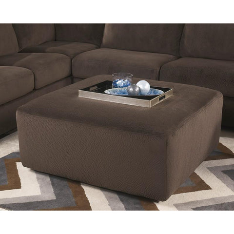 Flash Furniture FSD-6049OTT-CHO-GG Signature Design by Ashley Jessa Place Oversized Ottoman in Chocolate Fabric - Peazz Furniture