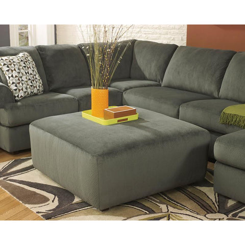 Flash Furniture FSD-6049OTT-PEW-GG Signature Design by Ashley Jessa Place Oversized Ottoman in Pewter Fabric - Peazz Furniture