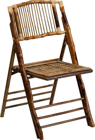 Flash Furniture X-62111-BAM-GG American Champion Bamboo Folding Chair - Peazz Furniture