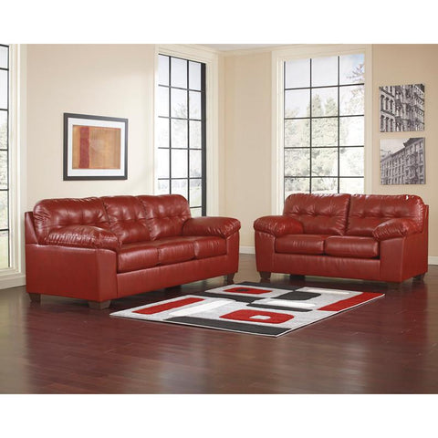 Flash Furniture FSD-2399SET-RED-GG Signature Design by Ashley Alliston Living Room Set in Salsa DuraBlend - Peazz Furniture