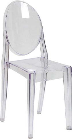 Flash Furniture FH-111-APC-CLR-GG Ghost Side Chair in Transparent Crystal - Peazz Furniture
