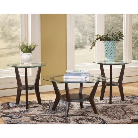 Flash Furniture FSD-TS3-61DB-GG Signature Design by Ashley Fantell 3 Piece Occasional Table Set - Peazz Furniture