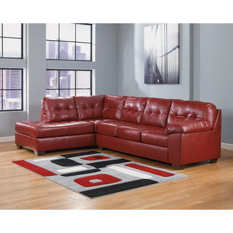 Flash Furniture FSD-2399SEC-RED-GG Signature Design by Ashley Alliston Sectional in Salsa DuraBlend - Peazz Furniture