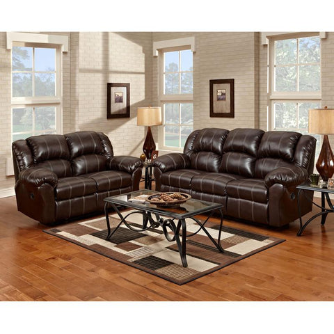 Flash Furniture 1000BRANDONBROWN-SET-GG Exceptional Designs Reclining Living Room Set in Brandon Brown Leather - Peazz Furniture