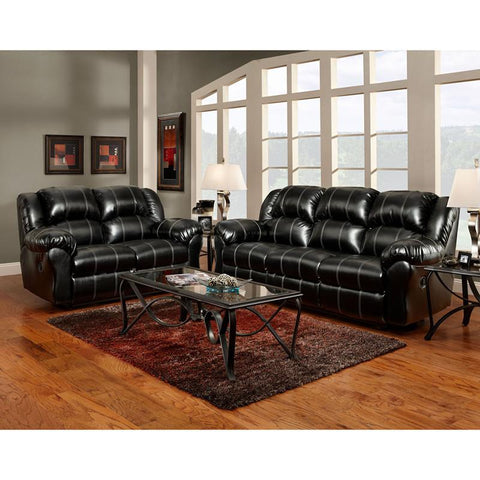 Flash Furniture 1000TAOSBLACK-SET-GG Exceptional Designs Reclining Living Room Set in Taos Black Leather - Peazz Furniture