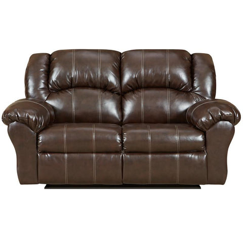 Flash Furniture 1002BRANDONBROWN-GG Exceptional Designs Brandon Brown Leather Reclining Loveseat - Peazz Furniture