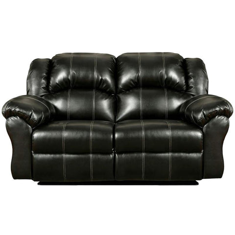 Flash Furniture 1002TAOSBLACK-GG Exceptional Designs Taos Black Leather Reclining Loveseat - Peazz Furniture