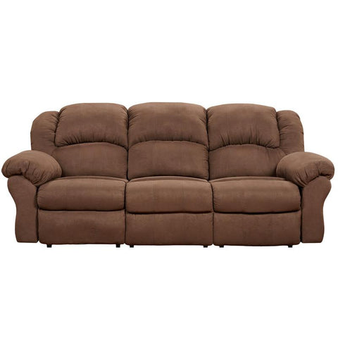 Flash Furniture 1003ARUBACHOCOLATE-GG Exceptional Designs Aruba Chocolate Microfiber Reclining Sofa - Peazz Furniture