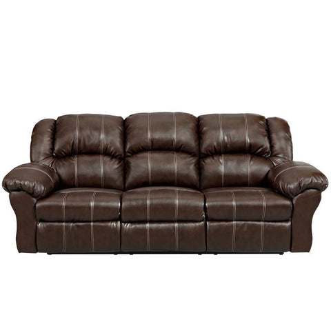Flash Furniture 1003BRANDONBROWN-GG Exceptional Designs Brandon Brown Leather Reclining Sofa - Peazz Furniture