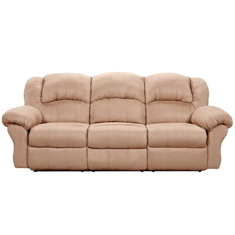 Flash Furniture 1003SENSATIONSCAMEL-GG Exceptional Designs Sensations Camel Microfiber Reclining Sofa - Peazz Furniture