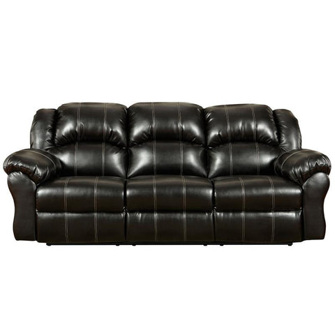 Flash Furniture 1003TAOSBLACK-GG Exceptional Designs Taos Black Leather Reclining Sofa - Peazz Furniture